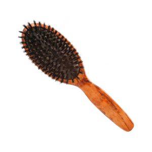 Szczotka drewniana naturalne włosie duża