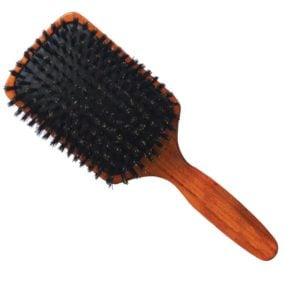 Szczotka drewniana naturalne włosie płaska