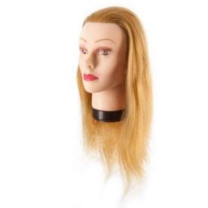 Fryzjerska główka treningowa włosy blond 45-50cm
