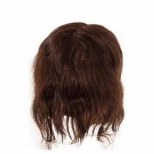 Fryzjerska główka treningowa włosy brąz 25-30cm