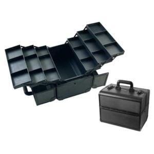Kufer fryzjerski aluminiowy, czarny