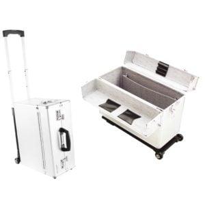 Kufer fryzjerski aluminiowy, na kółkach