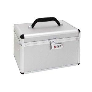 Kufer kosmetyczny, aluminiowy na szyfr