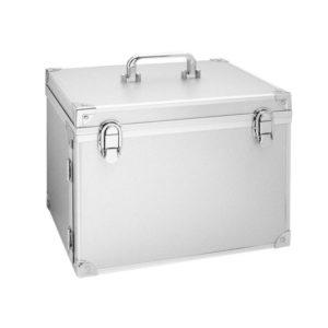 Kufer kosmetyczny, aluminiowy z lusterkiem