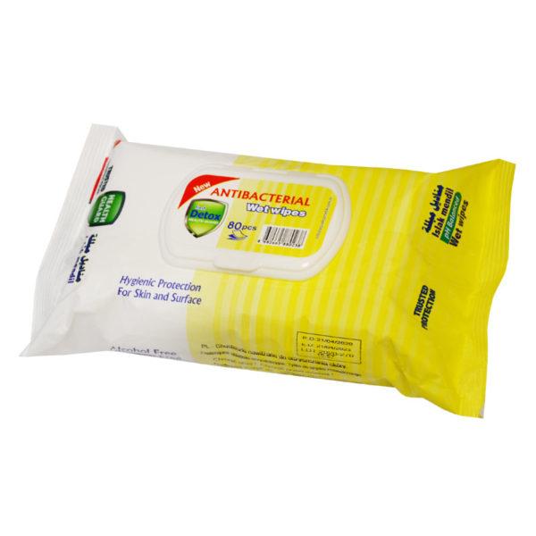 Detox chusteczki do dezynfekcji 80szt żółte