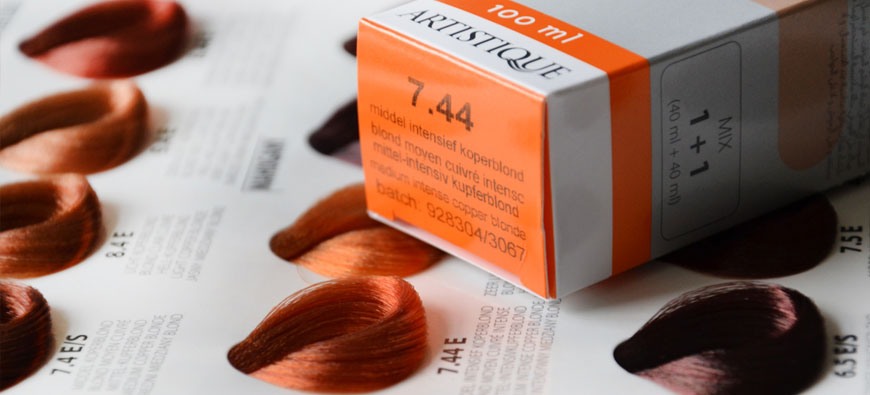 Artistique paleta kolorów farb do włosów - 7.44średni blond intensywny miedziany