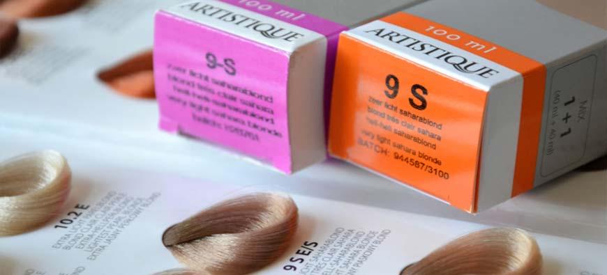 Artistique paleta kolorów farb do włosów