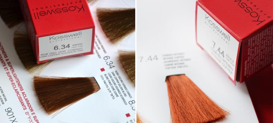 Kosswell paleta kolorów farb do włosów - numeracacja