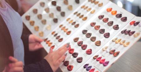Paleta kolorów farb do włosów
