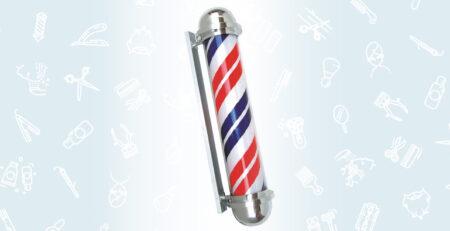 słupek barberski - barber pole w twoim barber shopie