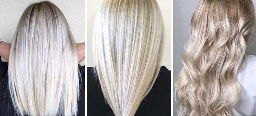 Jesienne trendy w koloryzacji włosów 2020 - platynowy blond